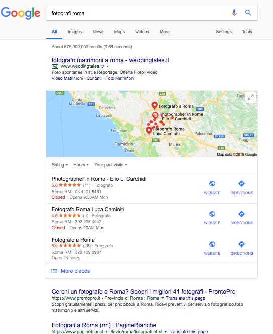 trovare clienti su google