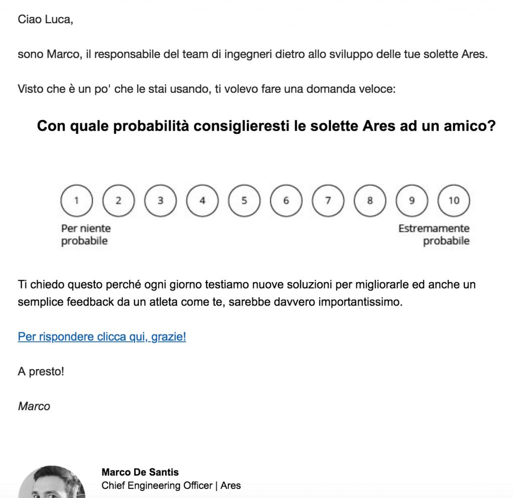 mail net promoter score