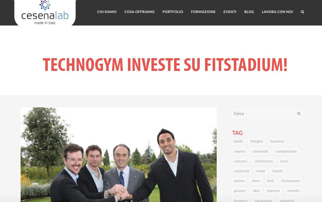 technogym investe su Fitstadium. Nella foto Luca Domeniconi, Nerio Alessandri, Denis Brighi e Milos Jankovic