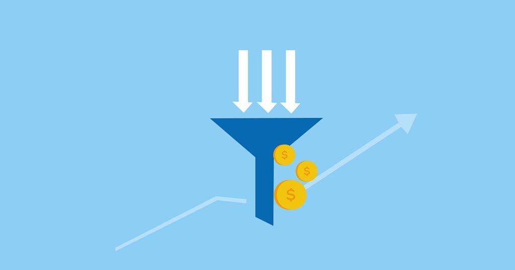 sales funnel: funnel