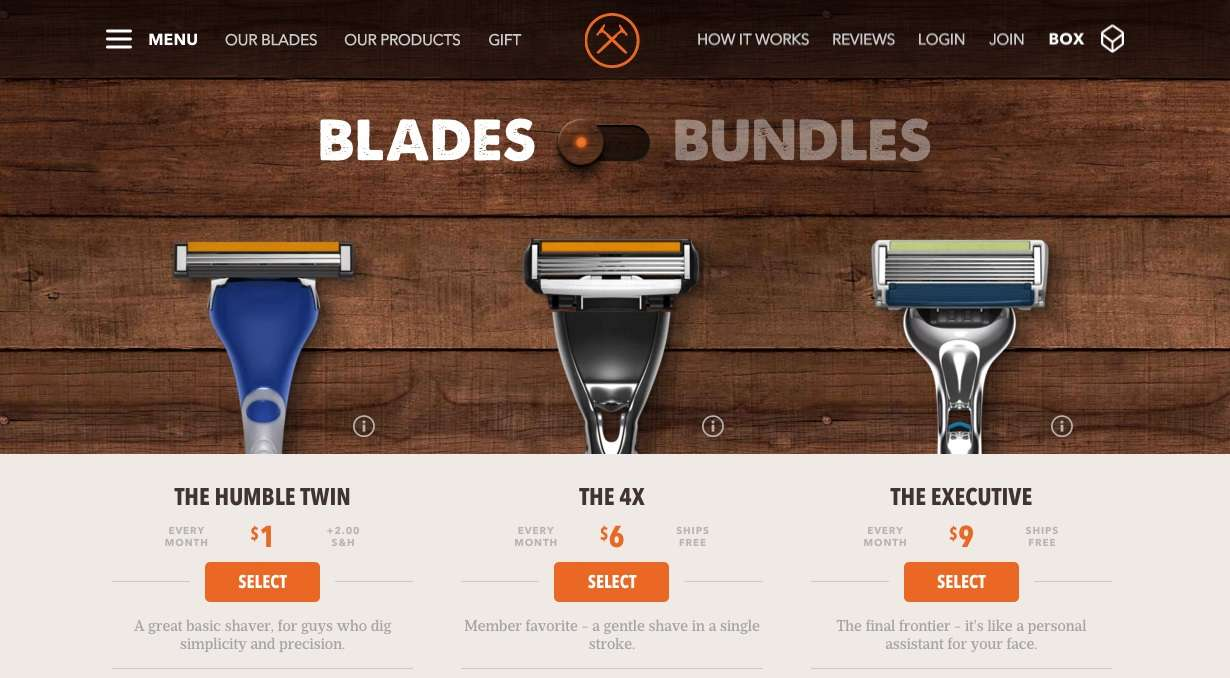 startup - dollar shave club